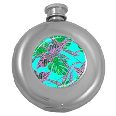 Painting Oil Leaves Nature Reason Round Hip Flask (5 Oz)