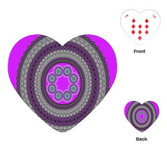 Round Pattern Ethnic Design Playing Cards (heart)  by Nexatart