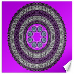 Round Pattern Ethnic Design Canvas 12  X 12
