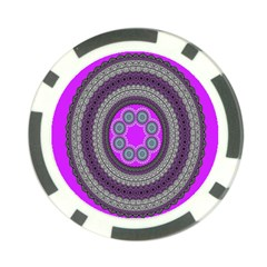 Round Pattern Ethnic Design Poker Chip Card Guard (10 Pack)