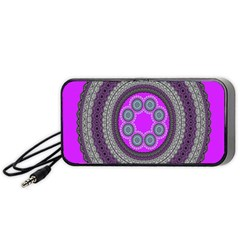 Round Pattern Ethnic Design Portable Speaker