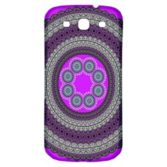 Round Pattern Ethnic Design Samsung Galaxy S3 S Iii Classic Hardshell Back Case