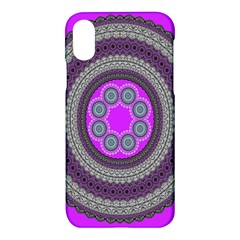 Round Pattern Ethnic Design Apple Iphone X Hardshell Case