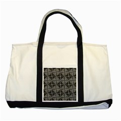 Pattern Op Art Black White Grey Two Tone Tote Bag