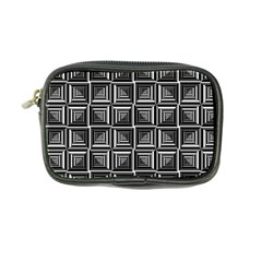 Pattern Op Art Black White Grey Coin Purse