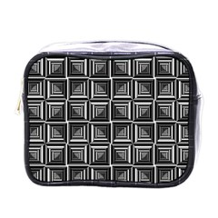 Pattern Op Art Black White Grey Mini Toiletries Bags