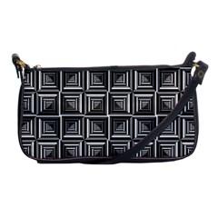 Pattern Op Art Black White Grey Shoulder Clutch Bags