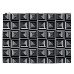 Pattern Op Art Black White Grey Cosmetic Bag (xxl)
