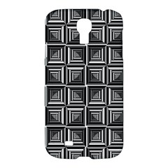 Pattern Op Art Black White Grey Samsung Galaxy S4 I9500/i9505 Hardshell Case