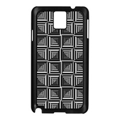 Pattern Op Art Black White Grey Samsung Galaxy Note 3 N9005 Case (black)