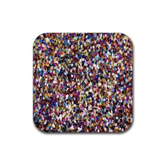 Pattern Abstract Decoration Art Rubber Coaster (square)