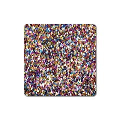 Pattern Abstract Decoration Art Square Magnet
