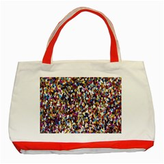 Pattern Abstract Decoration Art Classic Tote Bag (red)