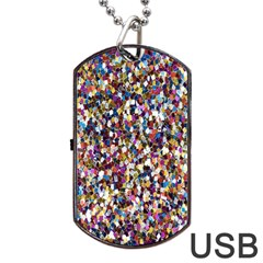 Pattern Abstract Decoration Art Dog Tag Usb Flash (one Side)