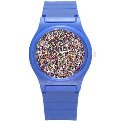 Pattern Abstract Decoration Art Round Plastic Sport Watch (s)