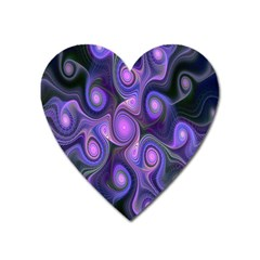 Abstract Pattern Fractal Wallpaper Heart Magnet