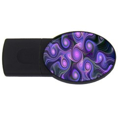 Abstract Pattern Fractal Wallpaper Usb Flash Drive Oval (2 Gb)