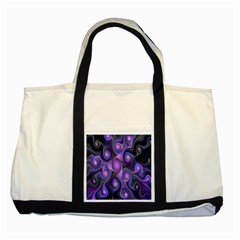 Abstract Pattern Fractal Wallpaper Two Tone Tote Bag by Nexatart