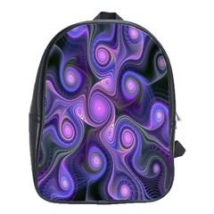 Abstract Pattern Fractal Wallpaper School Bag (large) by Nexatart