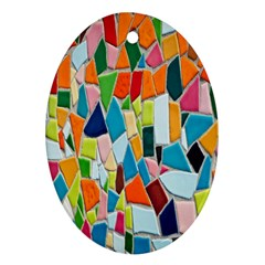 Mosaic Tiles Pattern Texture Ornament (oval)