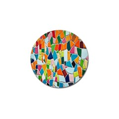 Mosaic Tiles Pattern Texture Golf Ball Marker