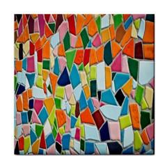 Mosaic Tiles Pattern Texture Face Towel by Nexatart