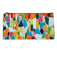 Mosaic Tiles Pattern Texture Pencil Cases by Nexatart