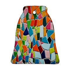 Mosaic Tiles Pattern Texture Bell Ornament (two Sides) by Nexatart