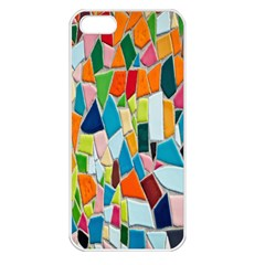 Mosaic Tiles Pattern Texture Apple Iphone 5 Seamless Case (white)