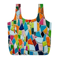 Mosaic Tiles Pattern Texture Full Print Recycle Bags (l)