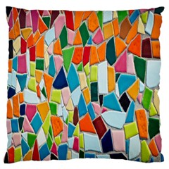 Mosaic Tiles Pattern Texture Standard Flano Cushion Case (one Side)