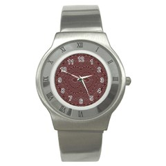 Design Pattern Abstract Stainless Steel Watch