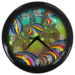 Amazing Fractal 5182 Wall Clocks (black)