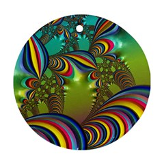 Amazing Fractal 5182 Round Ornament (two Sides)
