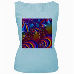 Amazing Fractal 5182b Women s Baby Blue Tank Top