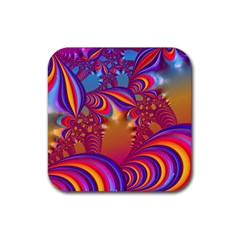 Amazing Fractal 5182b Rubber Square Coaster (4 Pack)