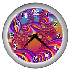 Amazing Fractal 5182b Wall Clocks (silver)