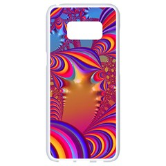 Amazing Fractal 5182b Samsung Galaxy S8 White Seamless Case