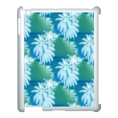 Palm Trees Tropical Beach Coastal Summer Blue Green Apple Ipad 3/4 Case (white) by CrypticFragmentsColors