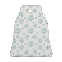 Pastel Floral Motif Pattern Bell Ornament (two Sides)