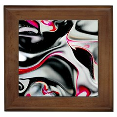 Pink And Black Smokey Design By Kiekie Strickland Framed Tiles by flipstylezdes