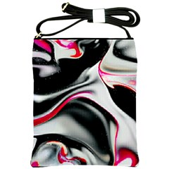 Pink And Black Smokey Design By Kiekie Strickland Shoulder Sling Bags by flipstylezdes
