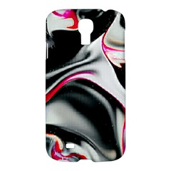 Pink And Black Smokey Design By Kiekie Strickland Samsung Galaxy S4 I9500/i9505 Hardshell Case by flipstylezdes