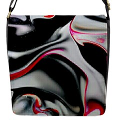 Pink And Black Smokey Design By Kiekie Strickland Flap Messenger Bag (s) by flipstylezdes