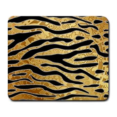 Golden Vector Embossed Golden Black Zebra Stripes Large Mousepads by flipstylezdes