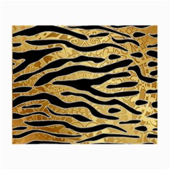 Golden Vector Embossed Golden Black Zebra Stripes Small Glasses Cloth (2 Side)