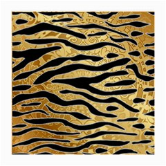Golden Vector Embossed Golden Black Zebra Stripes Medium Glasses Cloth