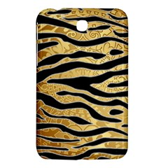 Golden Vector Embossed Golden Black Zebra Stripes Samsung Galaxy Tab 3 (7 ) P3200 Hardshell Case  by flipstylezdes