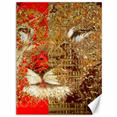Artistic Lion Red And Gold By Kiekie Strickland  Canvas 36  X 48