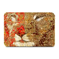 Artistic Lion Red And Gold By Kiekie Strickland  Plate Mats